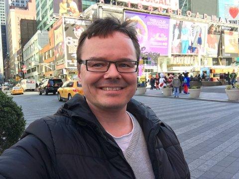 NEW YORK: Gjensyn med New York og Broadway for Tor Ingar Jakobsen lørdag. Foto: privat.