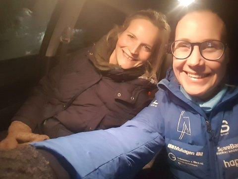 MØRKE: Mørkekjøring med Hilde Nyeggen Marthinsen ga meg smaken på Honda crv.