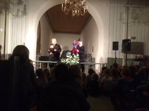 I FJOR: Fra fjorårets teateroppsetting i Lunner kirke