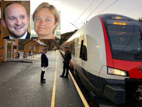 GJØVIKBANEN: Rigmor Aasrud (Ap) var overrasket over at samferdselsminister Jon Georg Dale (Frp) ikke vil gjøre noe for å forbedre situasjonen for langpendlerne på Gjøvikbanen.