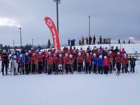 Gruppebilde fra treningssamlingen til JIF ski på Beitostølen.