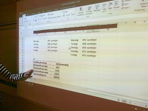 Presentasjon i Excel