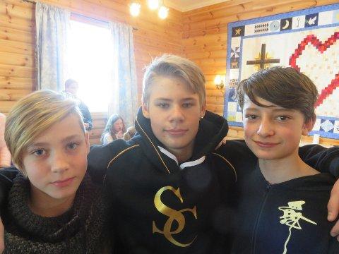 Fra venstre: Sebastian Skau Andersen, Fredrik Rustaden og Sander Becsan