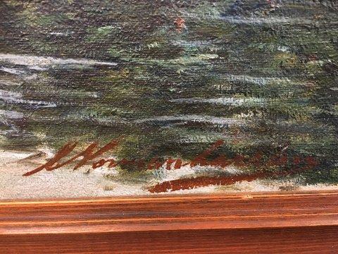 Maleren: Signaturen på bildet.