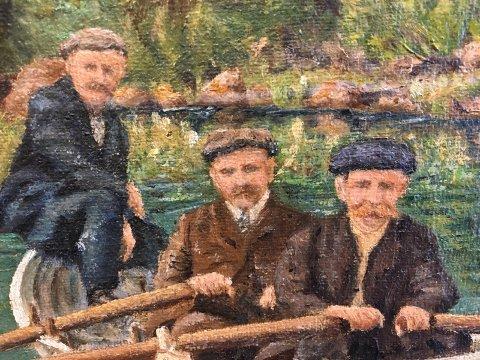 Portretter: De tre bak i båten.