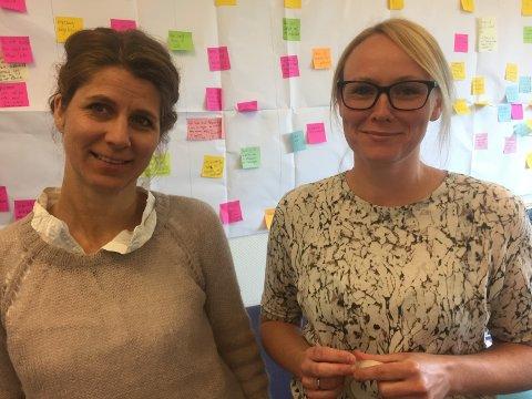 SERIESKAPERNE: Karianne Lund (til venstre) og Ids Sagmo Tvedte står bak «Stjernestøv», som blir NRKs julekalender i 2020.