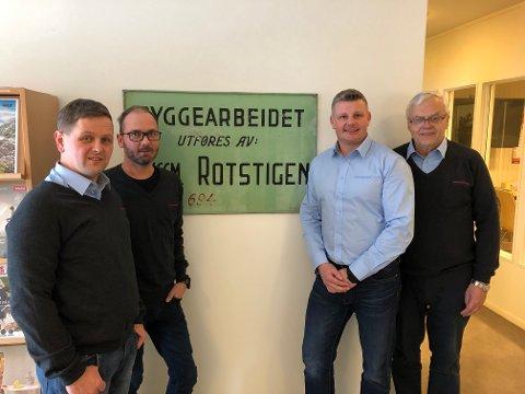 EIERNE: Terje Braathen, Trond Engestrøm, Bjørn Åge Scheide og Ole Kristian Lundby er klare for å satse offensivt under navnet Mesterhus Innlandet AS.