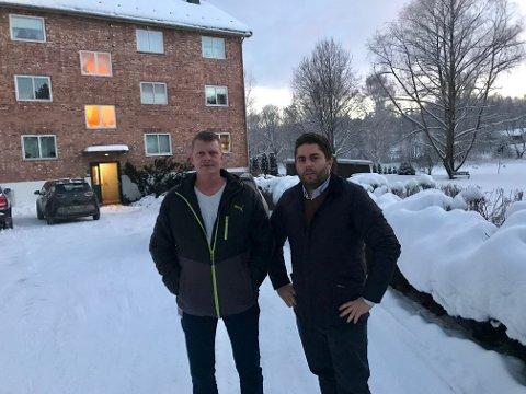 Ble ikke hørt: Smedsrudbrovolden sameie i Brandbu, her ved Tron Arne Grini og Dan Simon Andreassen.