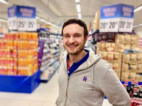 SLUTTER: Reijnier Arnout Hoogendoorn (30) forlater Rema 1000 på Grua.