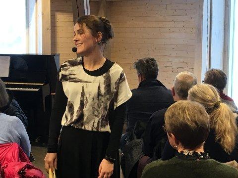 EGEN FORESTILLING: Karin Fristad imponerte med forestillingen hun har laget om grandtanta si.