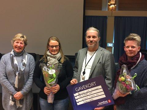 VINNER: Rådmann May-Britt Nordli, Hege Krüger, Bård Brørby og Trine Lise Olimb.