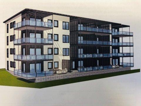FRA SKISSE: Planene om leilighetsbygg på Grua Torg skrider fram.
