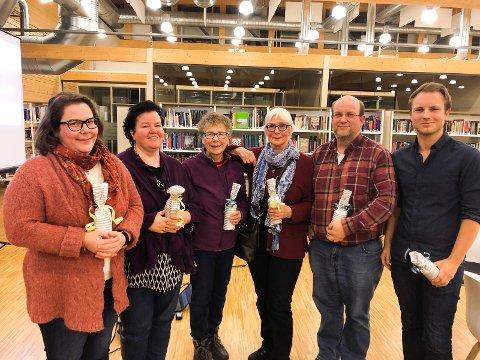 VINNERLAGET: Optimistene gikk til topps i quizen på Gran bibliotek i mars. Dette var den andre seieren deres denne sesongen. Fra venstre står Haldis Skaare, Johanne Hamed, Anne Marie F. Skaare, Marit Olaisen, Knut Næss og Vemund Næss.