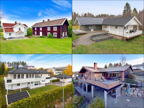 Dette er noen av eiendommene som ble solgt på Hadeland i februar.