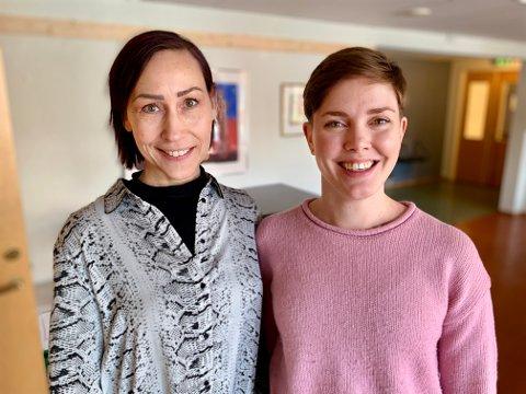 FOREDRAG: Siri Skogvold Isaksen (til venstre) i Otrera inviterte til foredrag med Heidi Leona Norum fra Rosa kompetanse barnevern.