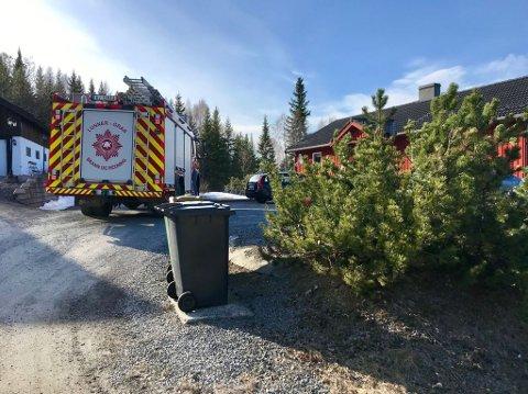 BRANN: Nødetatene har rykket ut til brann i enebolig i Lunner.