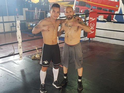 KAMP: Bernhard Torres (til venstre) er klar for ny proffkamp. Han har vært i Spania tidligere, og blant annet sparret mot tidligere verdensmester, Kiko Martinez.