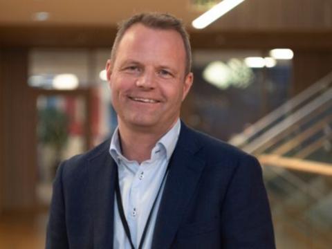 Fornøyd: Øystein Gullaksen, daglig leder i Vy Gjøvikbanen.