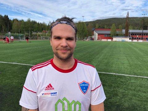 KLUBBSPILLER: Martin Støen Aasli fra Vestre Gran kunne aldri tenkt seg å melde overgang til naboklubbene Brandbu og Gran.
