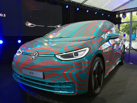 NESTE SOMMER: Volkswagen ID. 3 kommer i handelen neste sommer. Da fases e-Golf ut, mens e-up! fortsatt vil være tilgjengelig.
