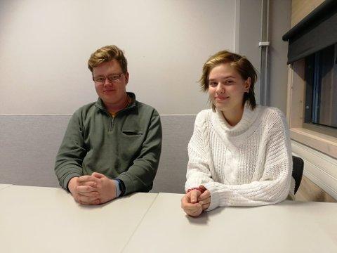 INTERESSERTE: Truls Gillebo og Nina Cornelia Whün synes at prosjektet er veldig spennende