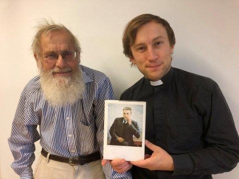 Lars Velsand og sokneprest Daniel - Olav Nygard-entusiaster.