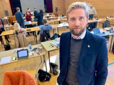 OPPGITT: – Kommuneøkonomien ser ut til å leve sitt eget liv, fullstendig upåvirket av de politisk vedtak som gjøres, sa Lasse Lehre.