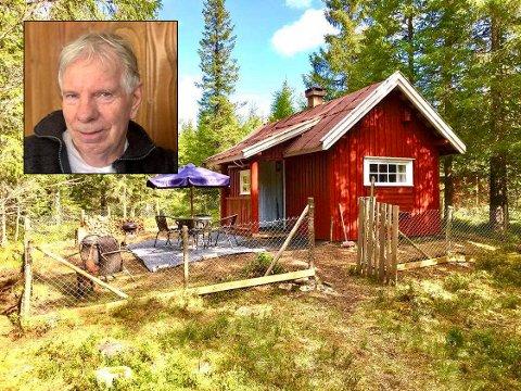 TILBAKE: Roger Jenserud gleder seg over at folk igjen vil leie hytta hans i Brandbu via Airbnb.
