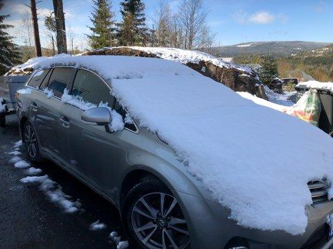MER SNØ: Natt til søndag og søndag morgen kan vi få et nytt snøfall enkelte steder på Hadeland.