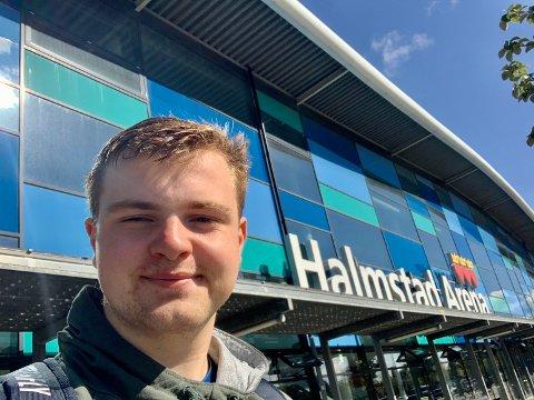 HALMSTAD: Jesper Jonassen Grua fra Grua følger drømmen om å bli en best mulig bordtennisspiller. Halmstad Arena er hans nye treningsarena.