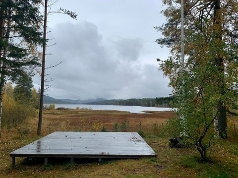 Thriller-setting: Utsikten fra huset til Anton Ruud som skal brukes i forbindelse med filminnspillingen.
