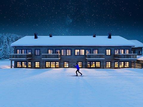 NYBYGG: Slik er leilighetsbygget på Nordstrandkollen planlagt utformet.