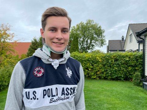 Takknemlig: Marius Bråthen (20) er glad han er i live etter den dramatiske ulykken i august.