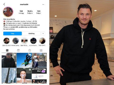 HACKET: Nils Arne Morka opplevde at Instagram-kontoen hans ble hacket. Nå har han kjøpt den tilbake fra svindlere i Tyrkia.