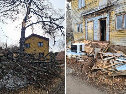LIVSFARLIG: Roger Øverengen reagerer på falleferdige bygg. – Det er direkte livsfarlig