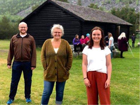 TRIO: Denne trioen setter sitt preg på årets utgave av Kristinspelet. Fra venstre: Christoffer Biong, Kari Margrethe Øihusom og Marie Wien Lodsby.