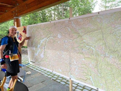OSLO-BERGEN: Gunnar Næss fra Harestua deltar i Oslo Bergen Trail. Et terrengultraløp fra Oslo til Bergen.