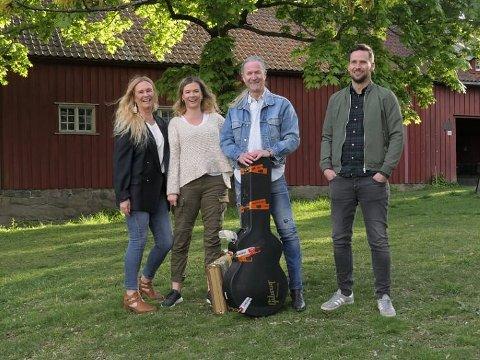 FAMILIEBANDET: Tofte holder utekonsert  på Kulturbruket Gamleskolen på Harestua lørdag 21. august.