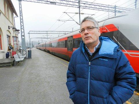 ORDFØRER: - Halden er avhengig av at dobbeltsporet går gjennom Sarpsborg for at det skal komme til Halden, sier ordfører Thor Edquist.