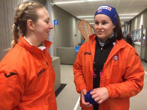 Skuffet. Anette Helene Hansen og Martine Moen etter tapet for Sola.