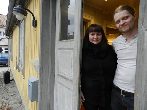 Leder Linn Elisabeth Rokke Andersen og miljøarbeider Martin Fredheim Andersen håper å se deg på ungdomsklubben Domino.