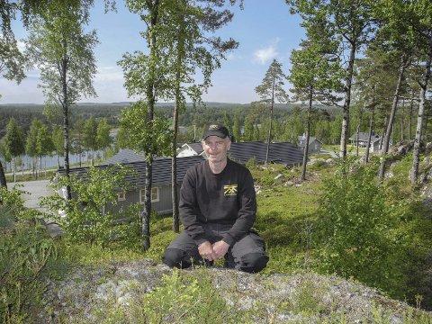 Flott utsikt: Øverst på hyttefelt «Sjøsiden» i Røsneskilen er det sol nesten hele dagen. – Disse tomtene ble solgt først, sier Kristher Kopperud.Alle foto: Jan Erik Sørlie