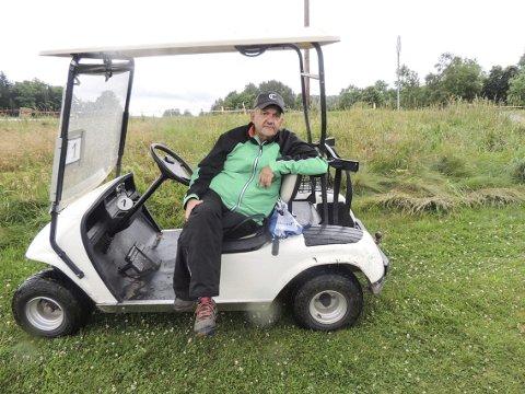 Fornøyd leder: Leder i Halden Golfklubb, Kåre Thorvaldsen fornøyd med hva de har fått til på golfbanen de siste årene. I august skal de arrangere regionsfinale i Nordea Pairs.