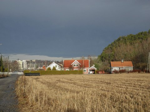 FELT B23: Her i boligfeltet mellom Engevikveien og Eskeviksletta er det planlagt inntil åtte boligenheter.