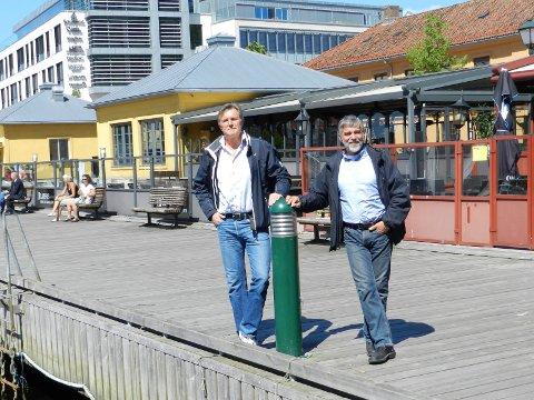 VILLE SATSE: Eier Knut J Johansen og arkitekt Jon Tore Grimsrud fortalte i HA i 2014 om planer om en storsatsing på Sjøbris med både ombygging og en styrket profil på gourmetsjømat. Nå har Johansen solgt restauranten.