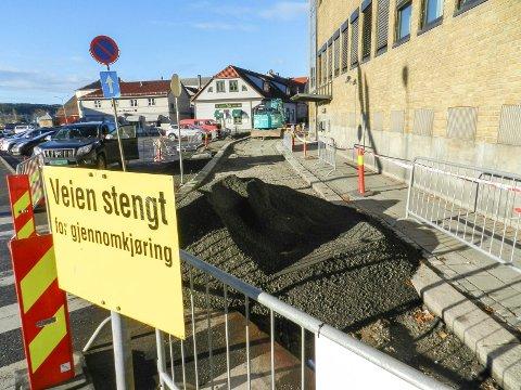 STENGT:En liten del av Nedre Bankegate er stengt.