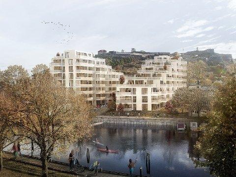 NEI: Østbys prosjekt har fått mange til å reagere negativt. Illustrasjon: AART architects
