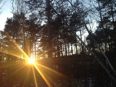 LYSERE TIDER: Nå går det mot lysere tider igjen. 21. desember snur sola, som vi kaller det.