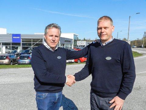 VELKOMMEN: Roger Jensen (tv) er glad han har fått Kjell Åge Holter tilbake i Jensen & Scheele-familien igjen.