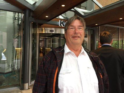 FORNØYD: Hovedtillitsvalgt ved Saugbrugs og styremedlem i Norske Skog, Paul Kristiansen, var fornøyd med torsdagens ekstraordinære generalforsamling. - Jeg tror Sveaas blir bra for Norske Skog, sier han.